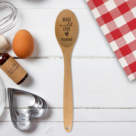 Exclusive Sale - Made With Love Custom Wooden Spoon