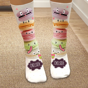Exclusive Sale - Personalized Macaron Tube Socks