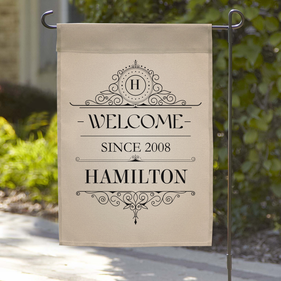 Exclusive Sale - Personalized Welcome Since Garden Flag