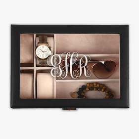 Exclusive Sale - Scroll Monogram Customized Accessories Case