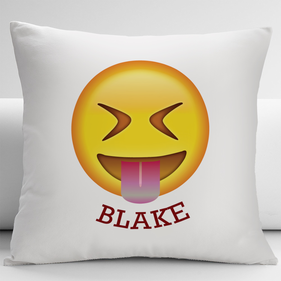 Face With Stuck-Out Tongue Customized Emoji Cushion Cover