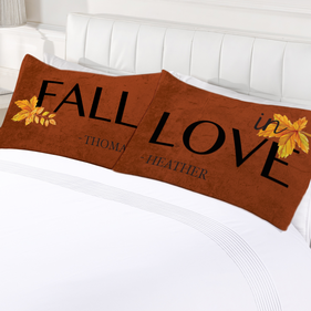 Fall In Love Custom Pillow Case Set