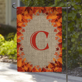 Fall Leaves Personalized Garden Flag