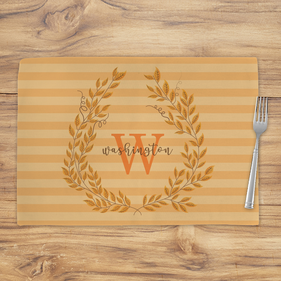 Fall Wreath Personalized Placemat
