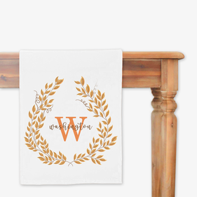 Fall Wreath Personalized Table Runner