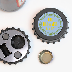 Family Custom Magnetic Bottle-Cap Shaped Bottle Opener