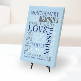 Family Memories Personalized Canvas Print