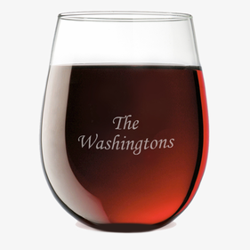 Family Personalized Stemless Wine Glass
