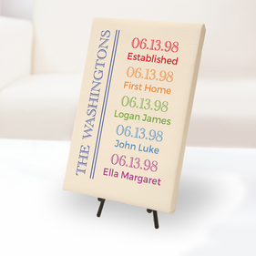 Family Special Occasions Custom Canvas Print