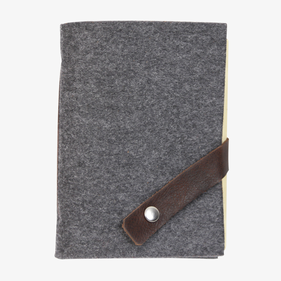 Felt Journal with Snap Leather Strip Closure