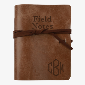 Field Notes Personalized Leather Wrap Journal
