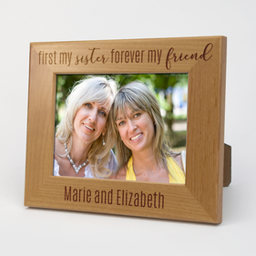 First My Sister...Personalized Wood Picture Frame