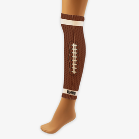 Football Inspired Custom Sports Compression Leg Sleeve