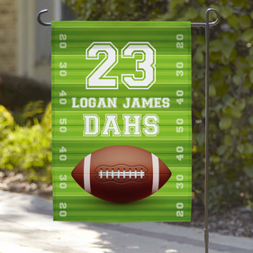 Football Personalized Garden Flag