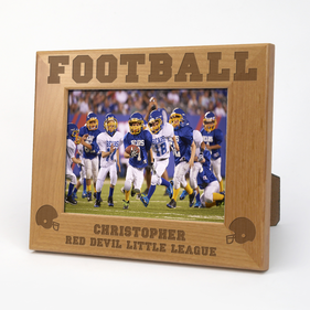 Football Personalized Wood Picture Frame