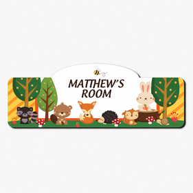 Forest Animals Personalized Kids Room Sign