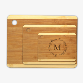 Exclusive Sale - Friends & Family Custom Wood Cutting Board 3 Piece Set