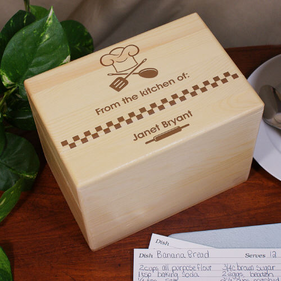 From The Kitchen Of Personalized Recipe Box