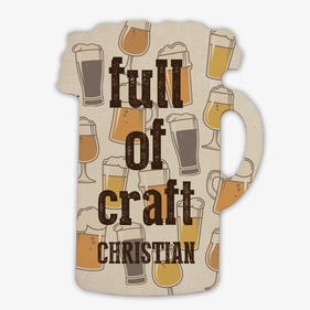 Full Of Craft Custom Beer Stein Magnet