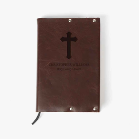 Genuine Leather Cross Personalized Bible Cover