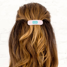 Geometric Design Monogram Hair Barrette