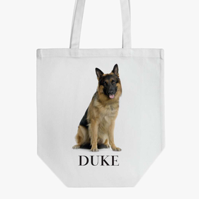 German Shepherd Custom Cotton Tote Bag