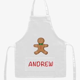 Gingerbread Man Custom Kids Apron