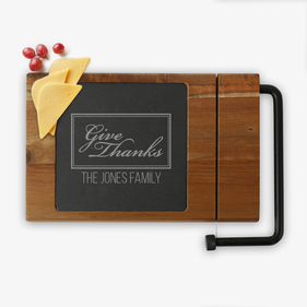 Give Thanks Custom Acacia Wood Cheese Board