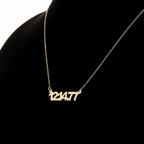 Gold over Silver Date Necklace