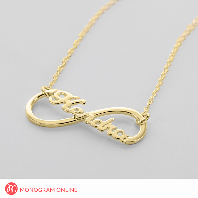 infinity necklace gold. gold over silver infinity name necklace