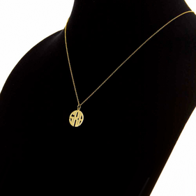 Gold over Silver Monogram Necklace/ Block Letter Style