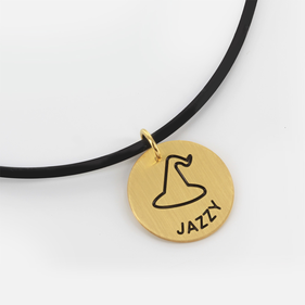 Gold over Silver Name Necklace