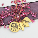 Gold over Silver Personalized Family Tree Mother's necklace