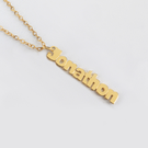 Yellow or Rose Gold over Silver Personalized Mini Name Necklace