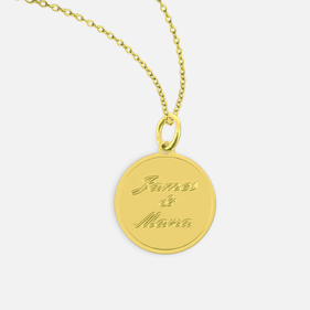 Gold over Silver Personalized Necklace