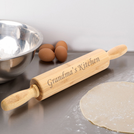 Grandma's Kitchen Personalized Wooden Rolling Pin