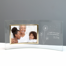 Grandmother's Jade Custom Glass Crescent with Picture Frame