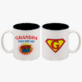 Grandpa You Are My Super Hero Personalized Coffee Mug