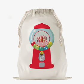 Gumball Machine Custom Large Drawstring Sack