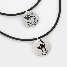 Sterling Silver Halloween Name Necklaces
