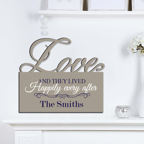 Happily Ever After Personalized Love Wall Sign