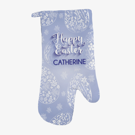 Happy Easter Personalized Oven Mitt