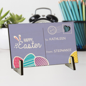 Flash Sale - Happy Easter Personalized Wood Postcard