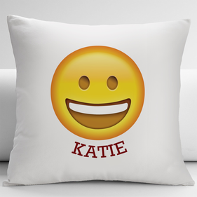 Happy Face Customized Emoji Decorative Cushion Cover