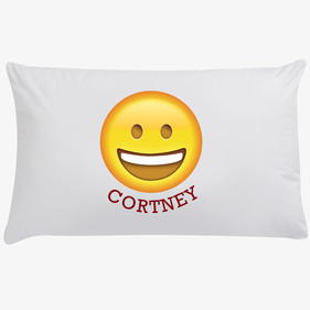 Happy Face Customized Emoji Pillowcase