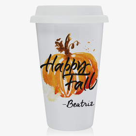 Personalized Happy Fall Eco Tumbler Coffee Mug