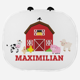 Happy Farm Personalized Name Sunshade