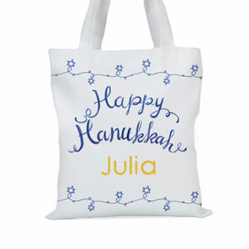 Happy Hanukkah Personalized Tote Bag