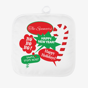 Happy Holidays Personalized Pot Holder