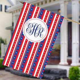 Happy Labor Day Custom House Flag